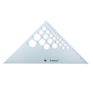 Triangolo 45°-90° con cerchi